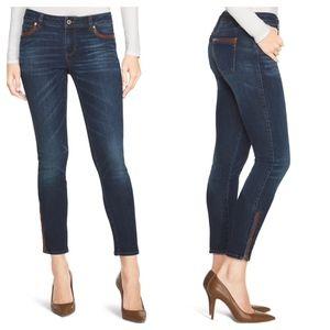 White House Black Market Skimmer Skinny Trim Jeans